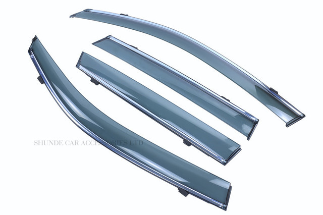 FIT FOR MITSUBISHI LANCER SIDE WINDOW RAIN DEFLECTORS GUARD VISOR WEATHER SHIELDS  3D SOLID LIGHT BAR ACRYLIC WEATHER SHIELDS