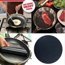2pcs Round Teflon Non-stick Mat Pan Fry Liner Sheet Cooking Wok Sheet Pad Kitchen BBQ Baking Mats JD562