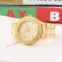El nuevo 2016. rhinestone correa de acero caja de reloj reloj de pulsera de hombre de negocios, de oro de lujo de relojes de moda, superficie única