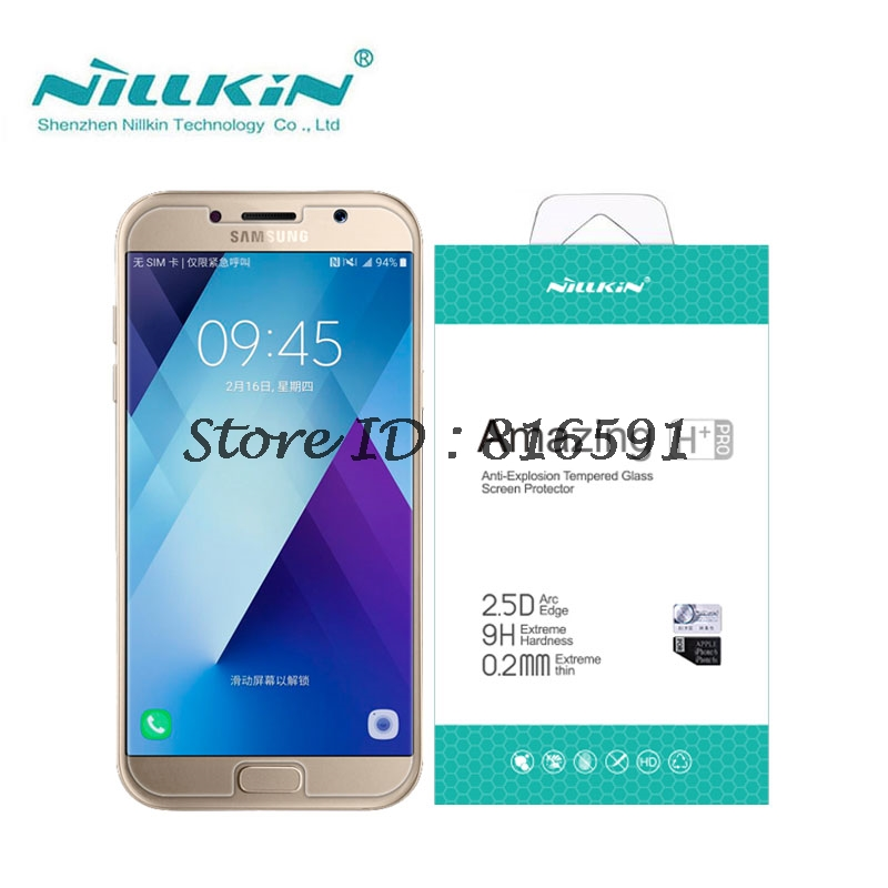 For Samsung Galaxy A5 2017 Tempered Glass sFor Samsung A5 2017 Glass Nillkin Amazing H&H+Pro Screen Protector