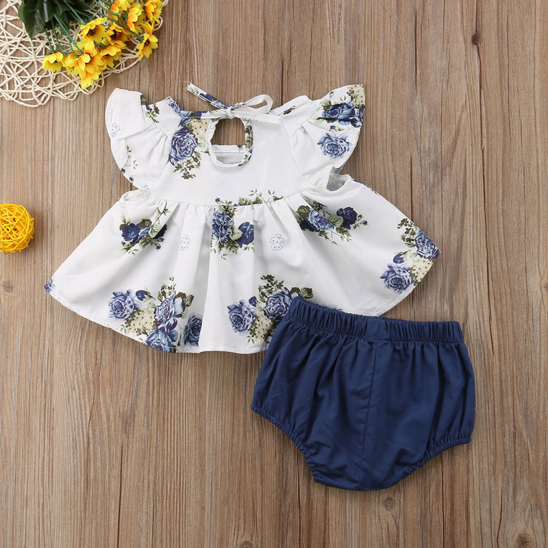 e68dbb6e0a49d FOCUSNORM New Fashion Newborn Infant Baby Girls Clothing Floral Tops Dress  Harem Shorts Pants Summer Clothes UK-in Clothing Sets from Mother & Kids on  ...