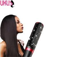 2016 New Brush Hair Straightener Comb Electric Hair Straightener Brush Anti Scald Comb Heated High Quality