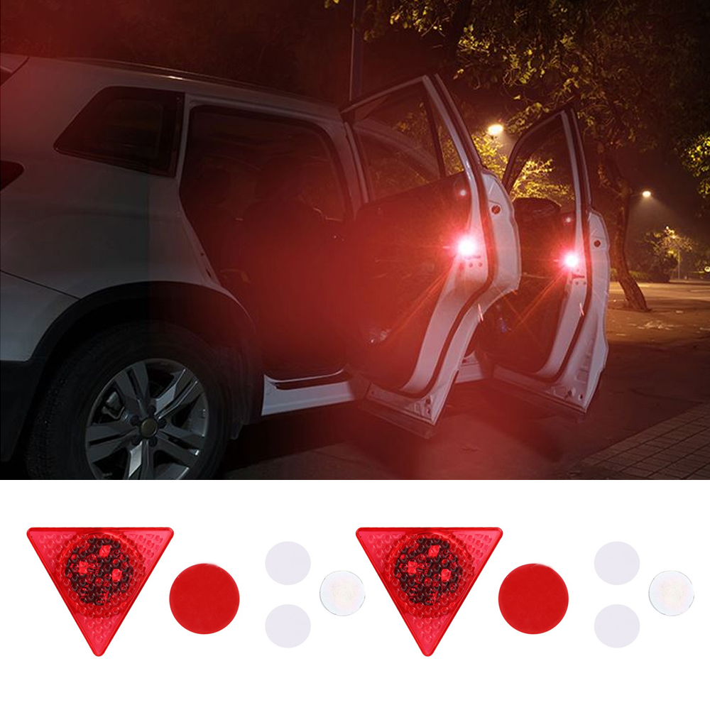 Car Lights Automobiles & Motorcycles 2019 New Style 1pic Car Door Strobe Light Wireless Led Door Opening Warning Lights Waterproof Flashing Anti Rear-end Collision Led Safety Lamps