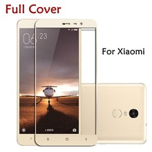 Фотография 9H 2.5D Color Tempered Glass Screen Protector For Xiaomi Redmi 3 Pro Mi4 Mi5 Redmi Note 2 Note 3 Pro Phone Cases Cover Film