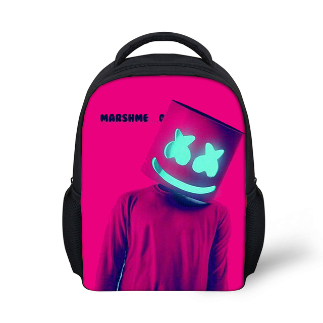 90d04dae3d6 Marshmello rugzak School Bags Boys Girls Backpacks School Supplies Junior  Printing School Bags Bagpack Mask DJ Bag School Girl
