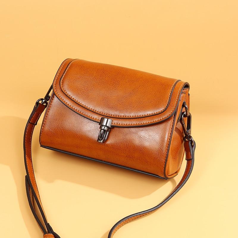 100% Echtem Leder Taschen Frauen Handtaschen Hohe Qualität Luxus Designer Schulter Taschen Damen 2019 Sommer Frauen Messenger Taschen