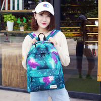 Backpack Goddess Series Leisure Canvas Backpack Travel Bag Fashion Light Student Bag Starry Print Pattern