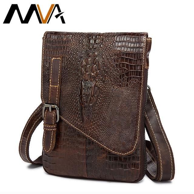 Genuine Leather Men Belt Waist Packs Leather Alligator Waist Men Bags Cigarette Packet Small Bag Crossbody Messenger Bag MVA