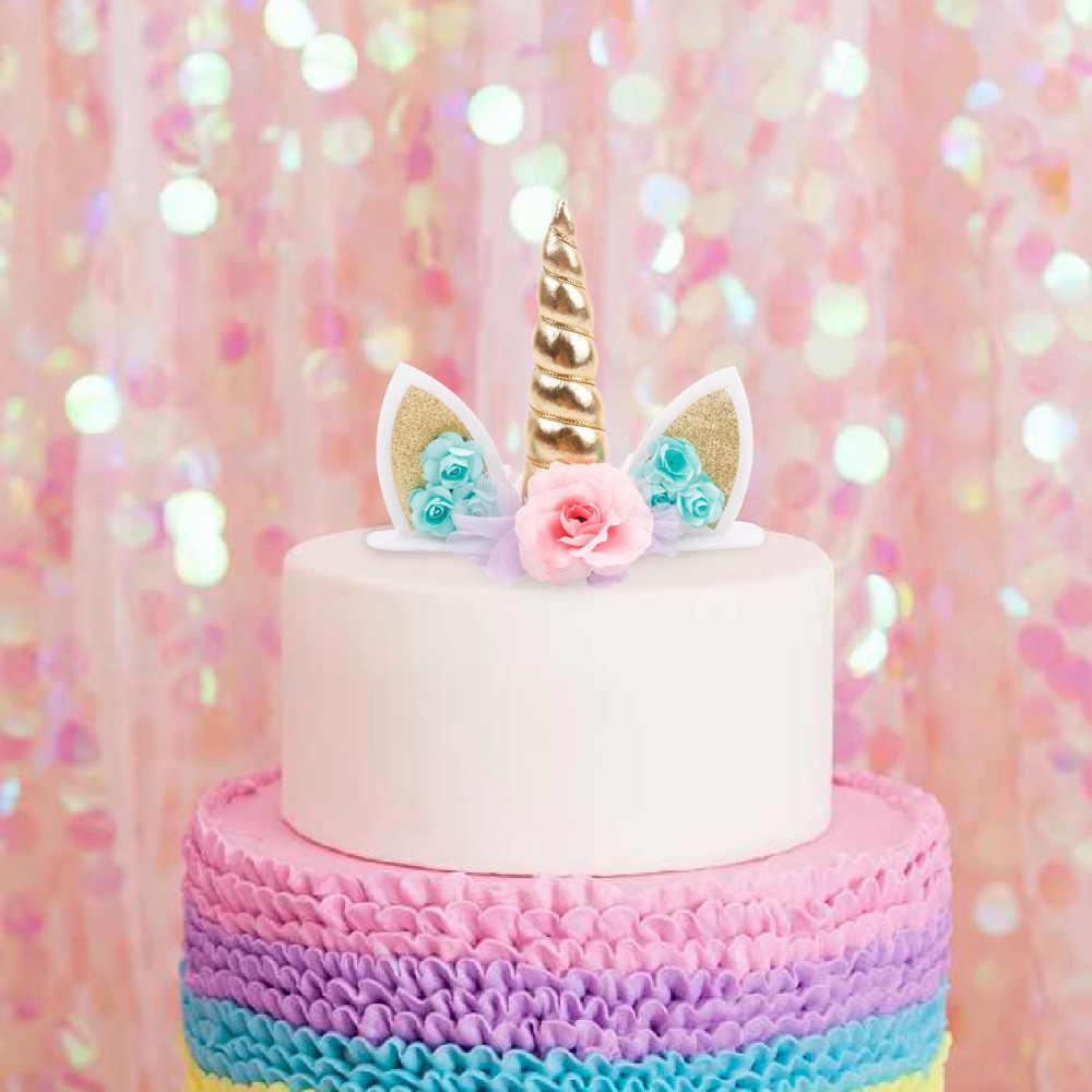 Awesome Unicorn Horns Cake Topper Kids Birthday Party Supply Rainbow Cake Personalised Birthday Cards Xaembasilily Jamesorg