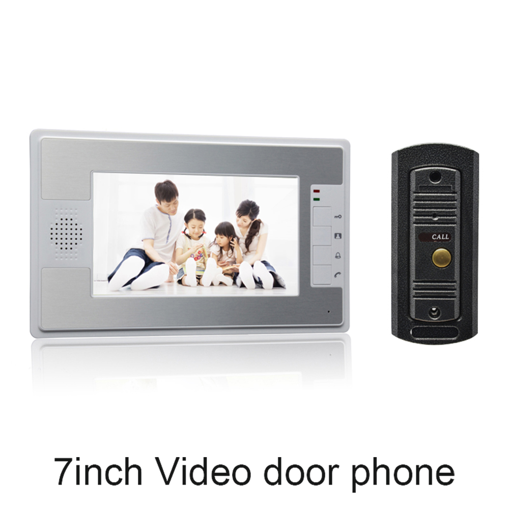 цена на (1 Set) white color 7 inch Monitor Home Improvement Video Door Phone Home Security Digital Doorbell Door Access Control Intercom