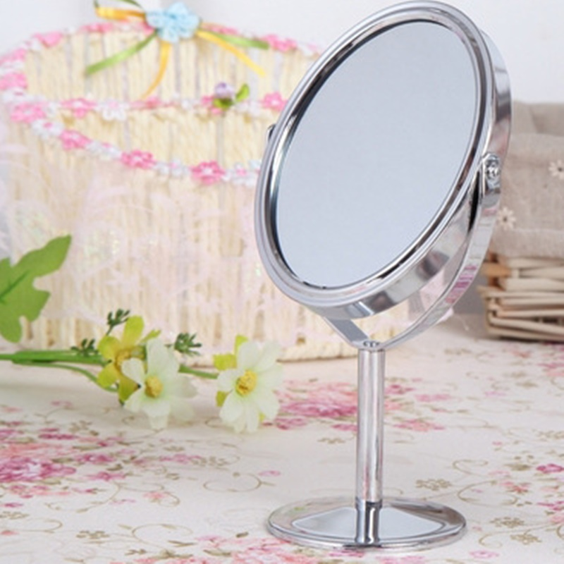 For Bedroom Double Sided Makeup Vanity Table Make Up Mirror Standing Metal Compact Mirrors Make Up Portable Magnifying Mirrior