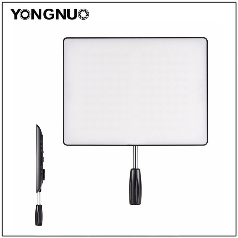 YONGNUO YN600 Air Pro LED Video Light Panel with 3200-5500K Color Temperature Brightness Adjustable For DSLR Camera DV Camcorder noble rhinestone design sleeveless one shoulder ombre color pleated prom dress for women page 1