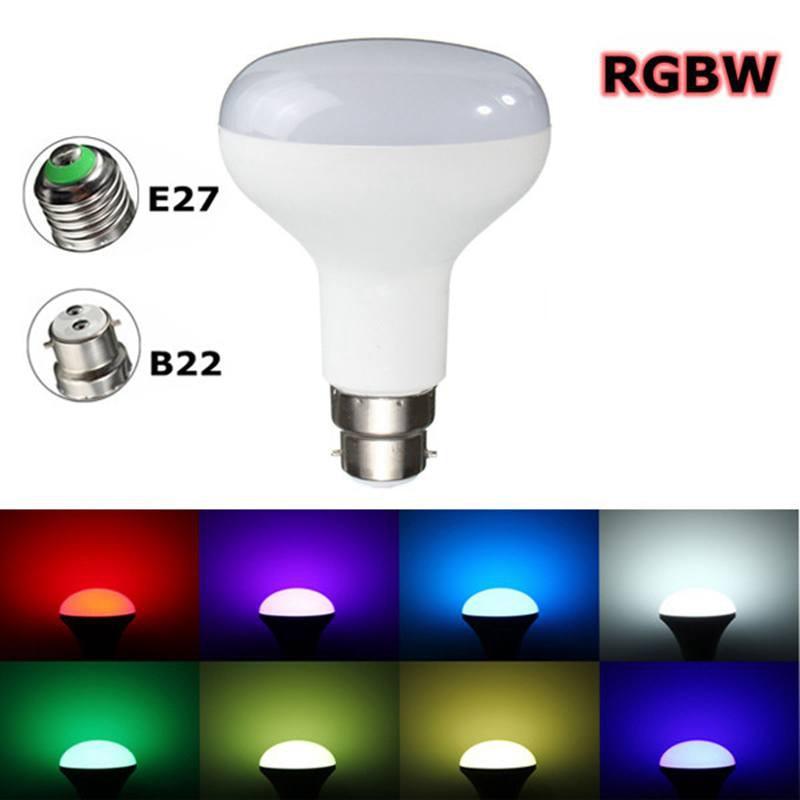 RGB LED Light Bulb E27/B22 10W 5050SMD Energy Saving RGBW Color Changing Lamp Bulb 2835SMD Pure White Lighting AC 85-265V rgbw led light bulb e27 b22 6w wireless bluetooth 4 0 control music audio energy saving smart lamp bulb rgb lighting ac110 240v