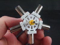 Star type Engine with 5 Hollow cup motor micro gear diy plane car model parts