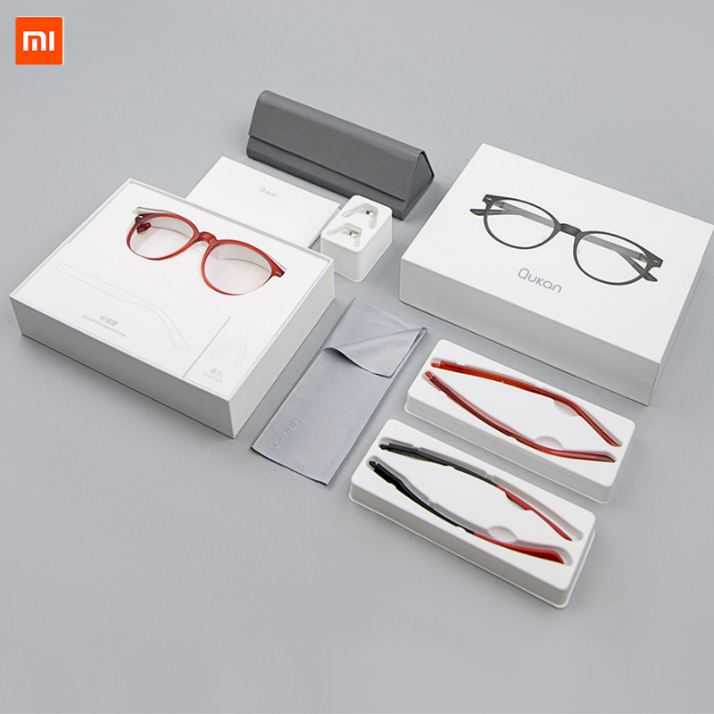 Computer Glasses Xiaomi ROIDMI Qukan W1 Detachable Anti-blue-rays Protective Glass Eye Protector For Man Woman Play Phone/PC lowest price original xiaomi b1 roidmi detachable anti blue rays protective glass eye protector for man woman play phone pc
