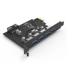 YOTTAMASTER CM30-4P Супер Скорость 5 Гбит 4 Портов USB3.0 PCI-E Карты Расширения Горячей замены Поддержка Windows 2000/XP/VISATA/MAC OS