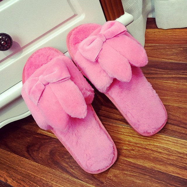 Cute Winter Women Home Slippers For Indoor Bedroom House Warm Shoes Pantuflas