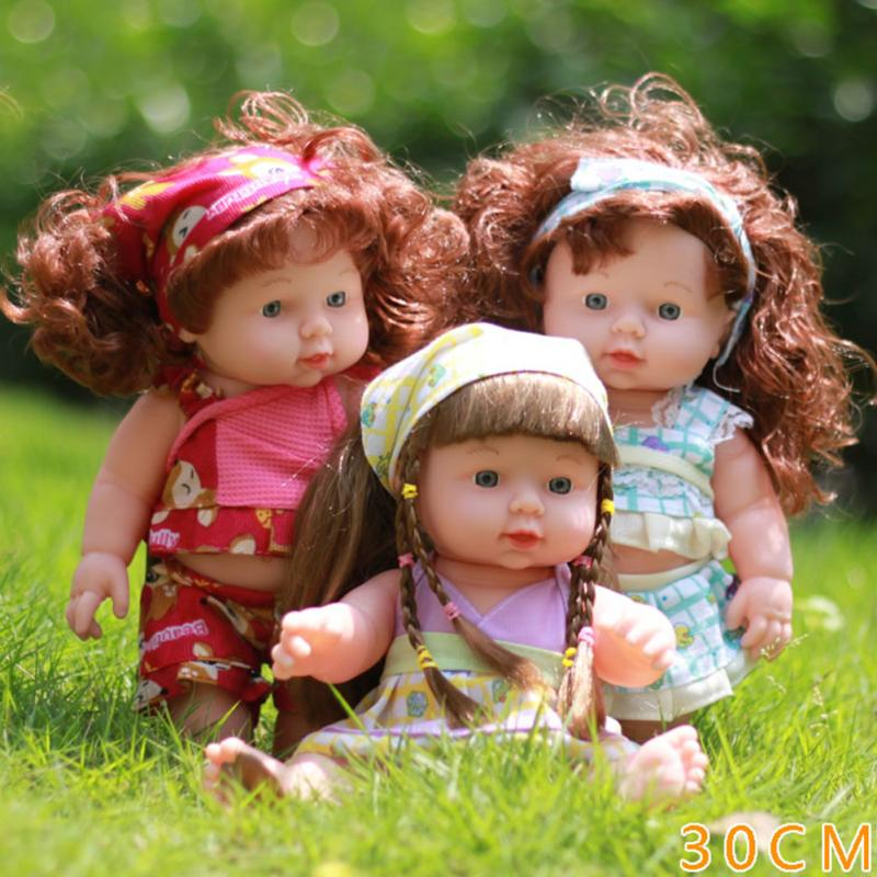 Cute Handmade Dolls Full Body Lifelike Baby Plastic Soft With Pretty Clothes Princess Gifts For Little Girl