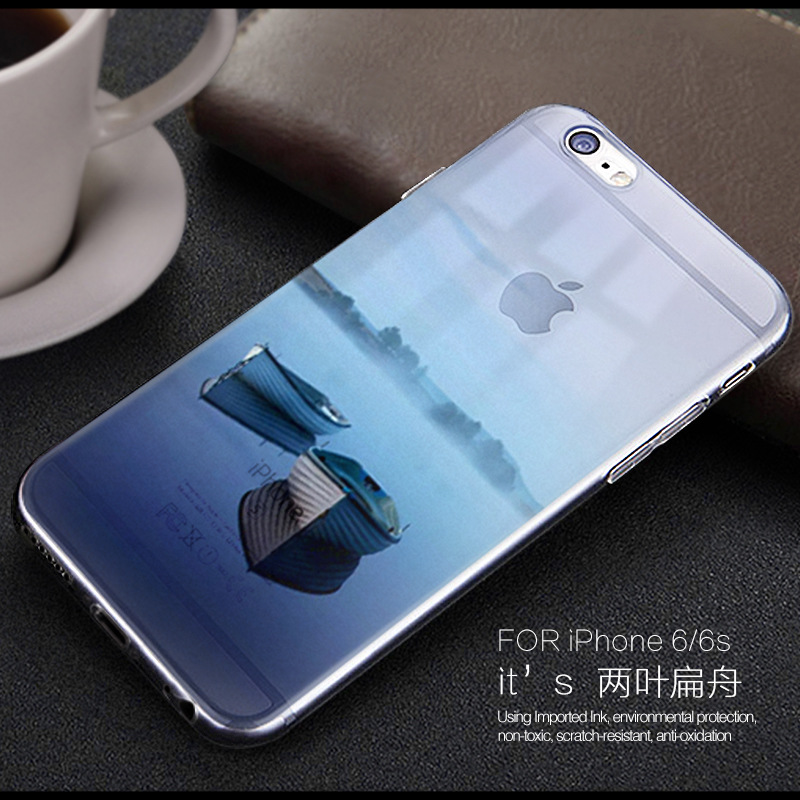 Lulumi мирной две лодки телефона чехол для Apple iPhone 5/5S/6/6 s/6 S +/7/+ полые пейзаж ТПУ мягкий печати paind задняя крышка