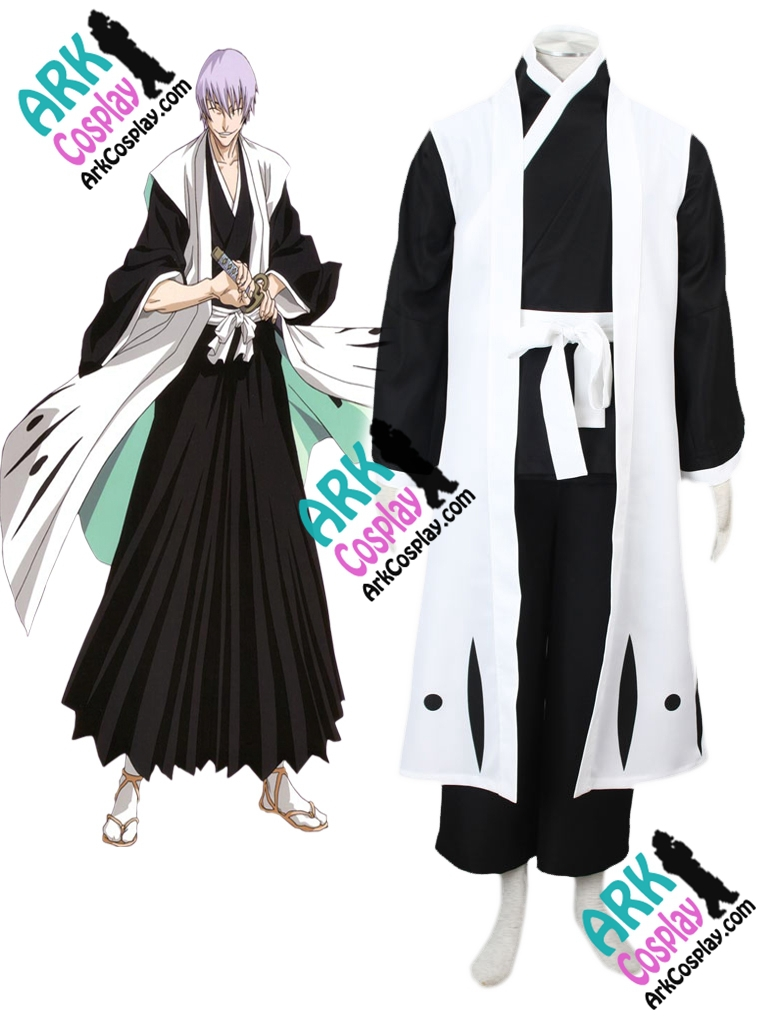 Bleach Ichimaru Gin Cosplay Kimono Cosplay Black Mens Bleach Cosplay Costume