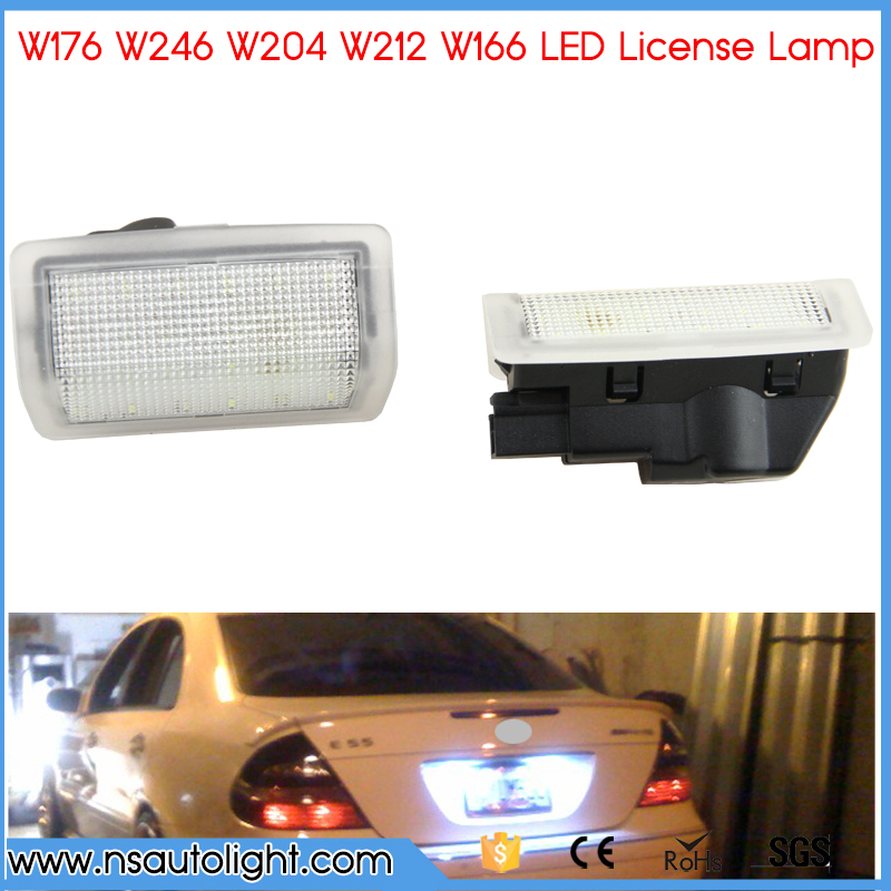 2X LED Canbus Auto Number License Plate Light Car Styling Lamp Bulbs For Benz: W176 12~  W246 11~ W204 11-14 W21 2pcs 12v 31mm 36mm 39mm 41mm canbus led auto festoon light error free interior doom lamp car styling for volvo bmw audi benz