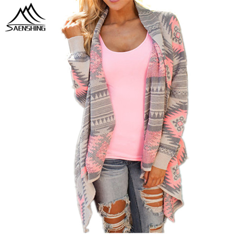Poncho Fashion Women's Cardigan Shrug Sweaters Sexy Autumn Winter Printed Irregular Hem Loose Long Tops Fall Oversized Sweater