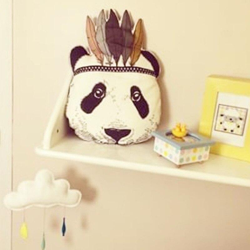 quarto cama sofá decorativo panda almofada melhor presente das crianças