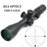 BSA оптика TMD 4 14X44 SPIR Тактический FFP Riflescope красный зеленый с подсветкой прицел охотничьи прицелы для снайперской винтовки Каза