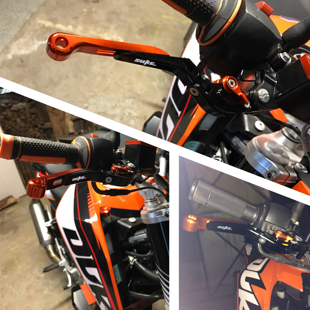 Motorcycle CNC Aluminum Adjustable Extendable Lengthen Brake Clutch Levers for KTM 390 Duke RC390 2013 2017 2018 2019 Orange in Levers Ropes Cables from Automobiles Motorcycles