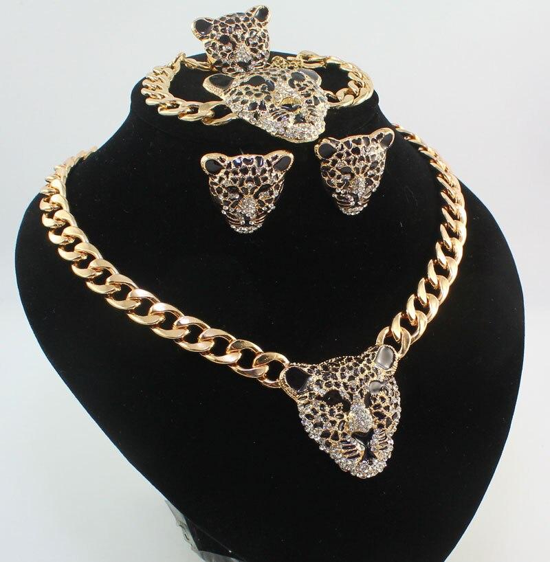 Cool սև արծնապակի ընձառյուծի գլխի - Նորաձև զարդեր - Լուսանկար 2