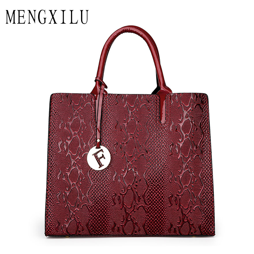 MENGXILU 2018 Women Bags For Women Shoulder Luxury Handbags Women Bags Designer Handbags High Quality PU Leather Bolsa Feminina high quality pu leather shoulder bag luxury handbags women bags kweco vader design brand crossbody bags for women bolsa feminina