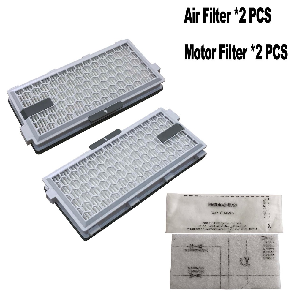 2 PACK  Replacement FILTER HEPA for Miele SF HA 50 SF HA50 Air Clean 50 Filter without time strip Motor cotton protection filter-in Vacuum Cleaner Parts from Home Appliances