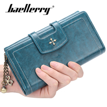 Baellery Women Long Clutch Wallet Large Capacity Wallets Female Purse Lady Purses Phone Pocket Card Holder Carteras 6 Color