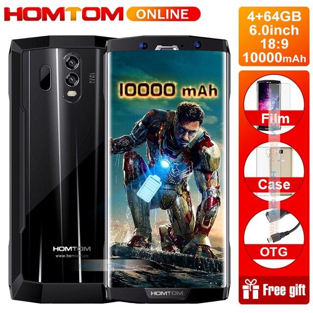 "HOMTOM HT70 6.0"" HD+18:9 Screen Smartphone MTK6750T Octa Core 4G RAM 64G ROM 10000mAh Battery 16MP+5MP Dual Cam 4G Smartphone"
