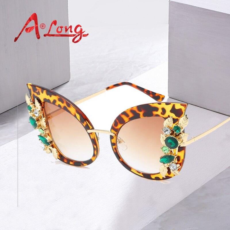 2121376dfd Best buy A Long Women Fashion Floral Sunglasses Luxury Brand Diamond Sun  Glass Female Stainless Steel UV400 Eyewear Accessories M68055 online cheap