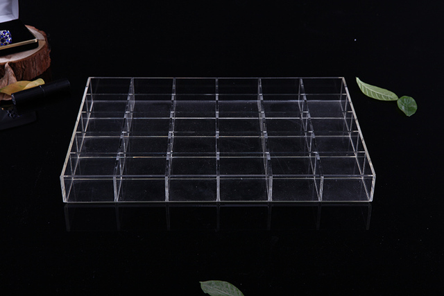30 grids Desktop Organizer Acrylic Display StorageTray Without Lids