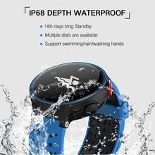 Azexi Reloj Inteligente A Prueba de agua IP68 5ATM relojes Smartwatch reloj pulsómetro rastreador de ejercicios de la presión arterial
