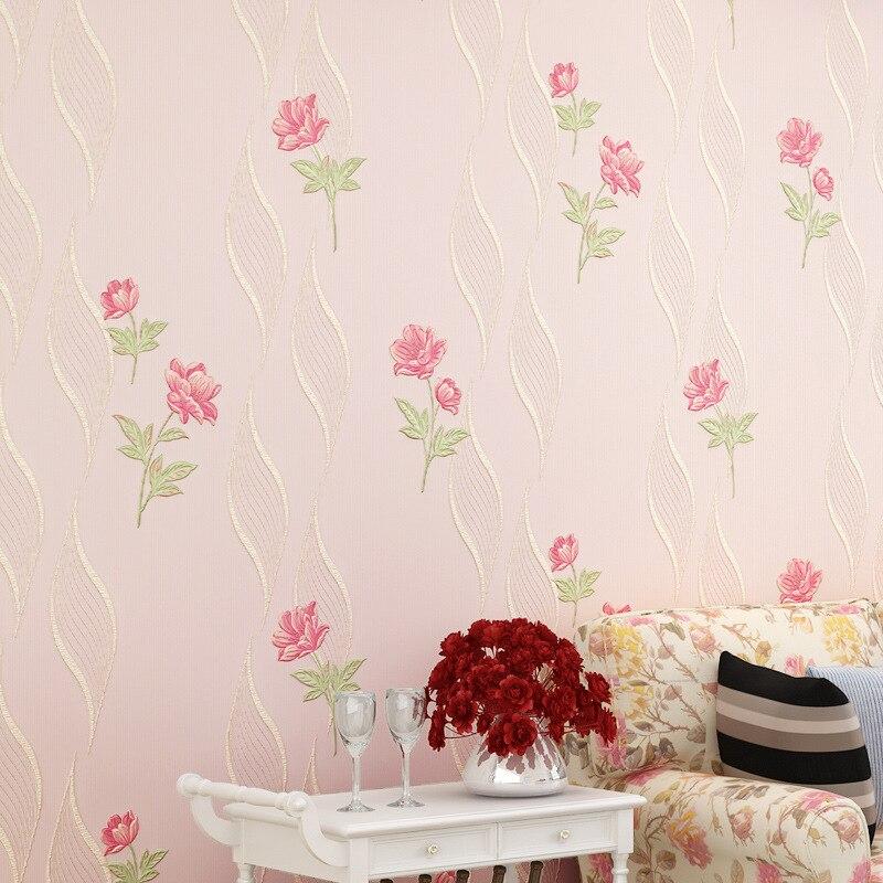 beibehang living room bedroom full of non - woven wallpaper pressure three - dimensional 3d pastoral wallpaper papel de parede
