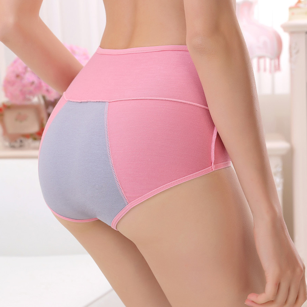 Bamboo Fiber Briefs Female Girls Underwear Sanitary Elastic Breathable Women   Panties   Menstrual Period High Waist Leakproof Sexy