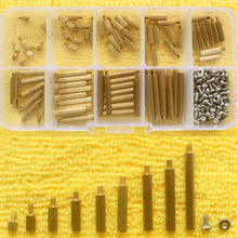 New 270pcs/Set PCB M2 Female Threaded Brass Spacer Standoffs Screws Nuts Assortment box 270pcs mayitr repair tool screws box assortment kit set for 1 10 hsp rc car accessories