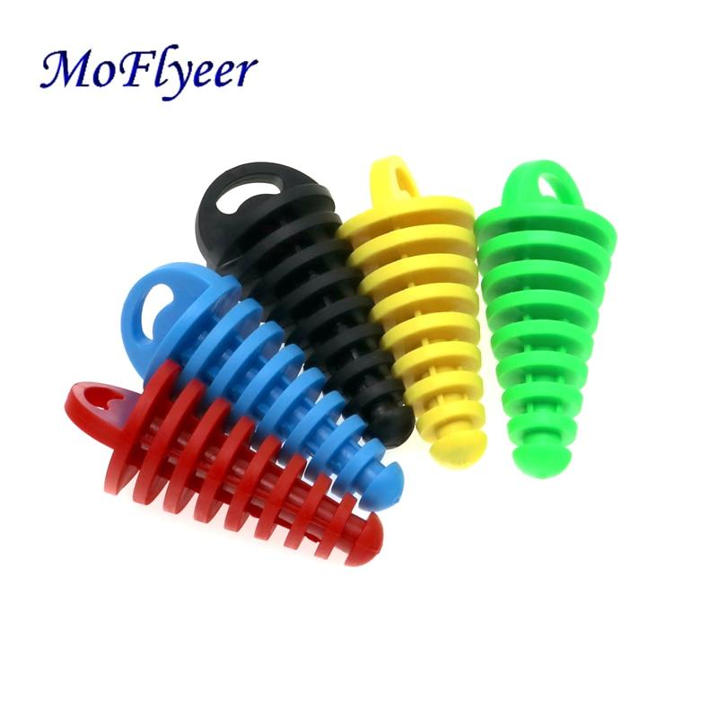 MoFlyeer Motorcycle Exhaust Pipe Motocross Tailpipe PVC Air-bleeder Plug Silencer Muffler Wash Protector