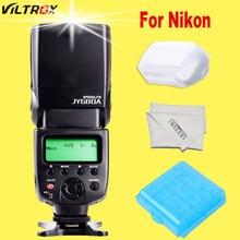 Para nikon d7100 d3100 d5300 d7000 d7200 d750 d610 d90 d5200 d3200 d3300 cámara speedlite viltrox flash speedlight jy680a jy-680a