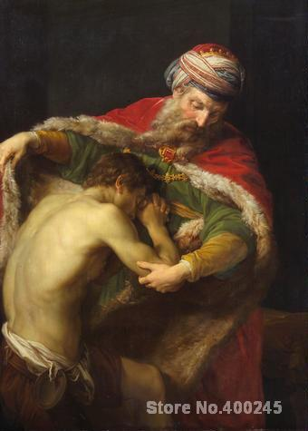 Christmas Gift art on Canvas The Prodigal Son by Rembrandt van Rijn Painting High Quality Handmade
