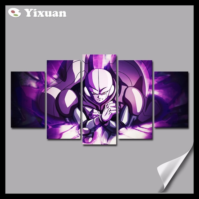 Us 10 41 Frame 5 Panels Canvas Painting Dragon Ball Hit Wall Art Painting Modern Home Decor Picture For Living Room In Painting Calligraphy From