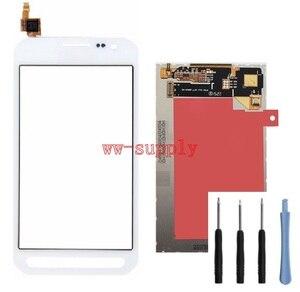 Image 2 - Pour Samsung Galaxy Xcover 3 G389 SM G389F capteur de numériseur décran tactile + écran daffichage LCD + adhésif + Kits