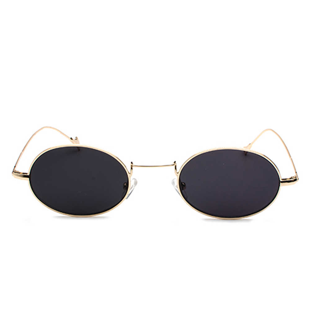 5c11c9d9ae4 ... Kachawoo small oval retro sunglasses men gold metal frame red blue  yellow vintage sun glasses for ...
