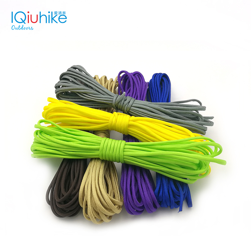 IQiuhike 200 Colors 10-31 Meters Paracod 550 Parachute Cord Lanyard Rope Spec Type III 7Strand Climbing Camping Survival Tool