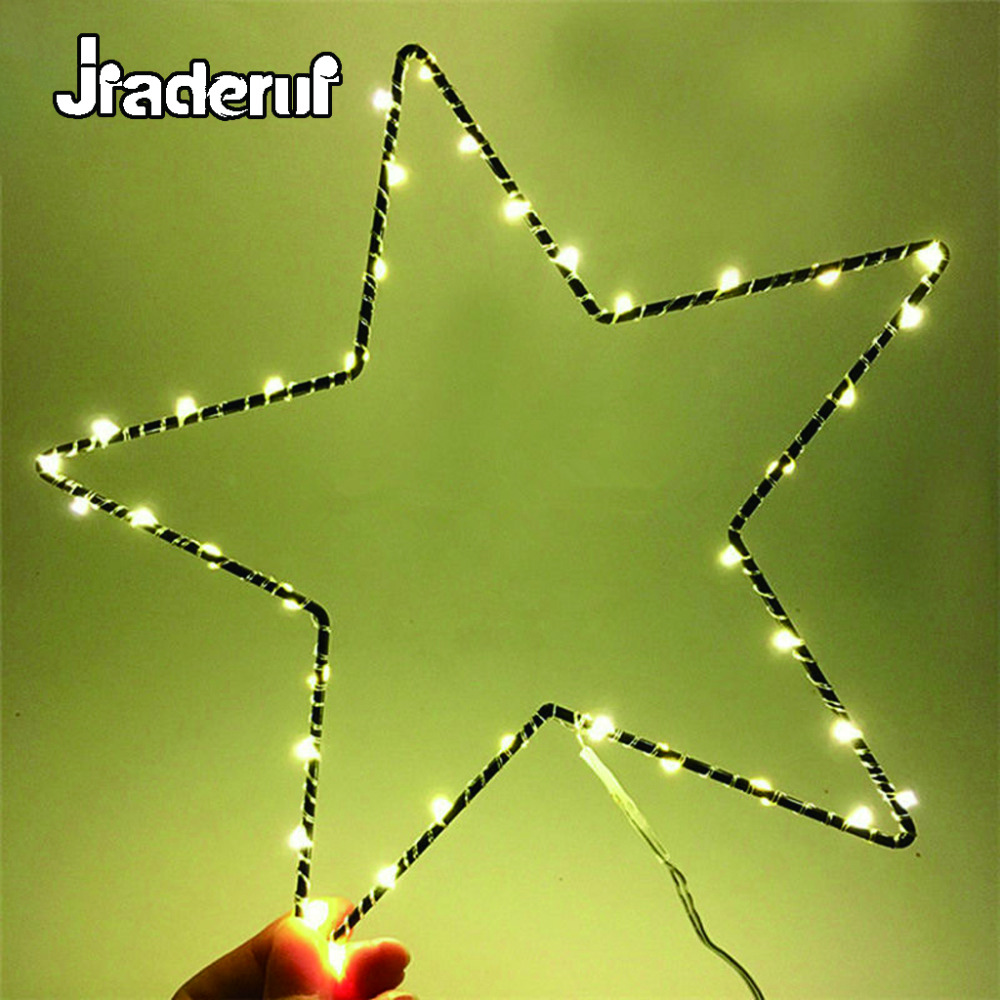 Jiaderui LED Star Iron Night Light Warm White Decor Room Curtain ...
