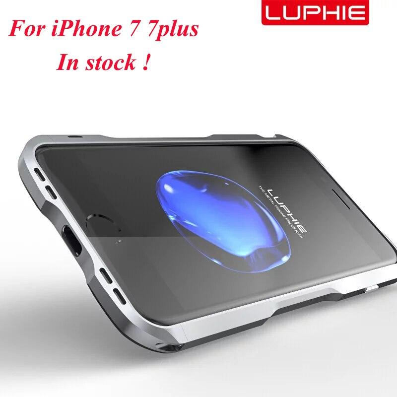 Цена за Luphie бренд супер металла Алюминий бампер для iPhone 7 7 плюс Роскошный Металлический Рамки мобильного телефона чехол для Iphone 7 Plus
