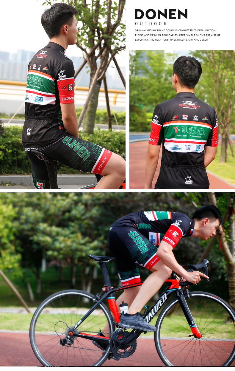 110a99efa DONEN Cycling Team Cycling Jersey Set Man Quick dry Bicycle Club ...